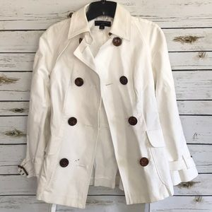 Jackets & Blazers - Banana republic white trench coat size PS (stains)